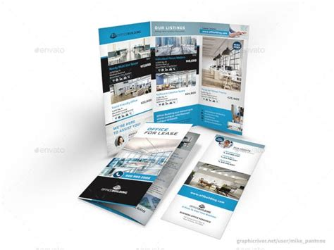 commercial real estate brochure templates  ai word