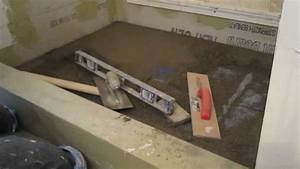How to install mud in a shower floor youtube for Installing a shower tray on concrete floor