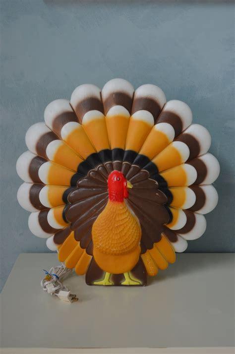 vintage union don featherstone turkey blow mold light
