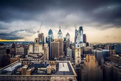 Philadelphia Skyline Pandemic Filadelfia Immagini Amid Cancels