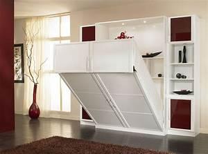 Lit Dans Armoire : lit dans une armoire meuble lit pliant 1 place efutoncovers ~ Premium-room.com Idées de Décoration