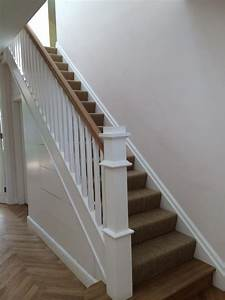 Red Deal Stairs Painted White - Kilgallon Stairs