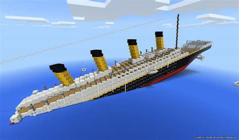 Minecraft Boat Titanic by Titanic In Minecraft Sinking Sinks Ideas
