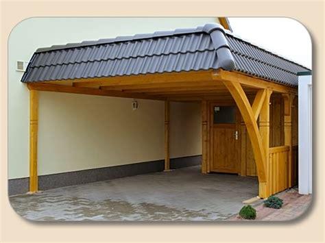 Carport Flachdach Anbau Mit Schuppen Von Holzonde