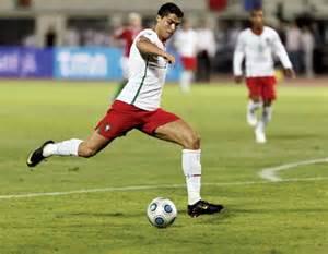 Ronaldo Kicking Soccer Ball