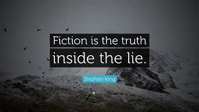 Stephen King Truth Fiction Lie Quotes Wallpapers