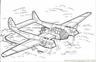 Military Plane Coloring Pages