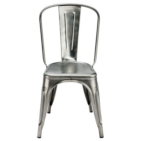 chaise a tolix chaise a de tolix acier brut gris lasuré