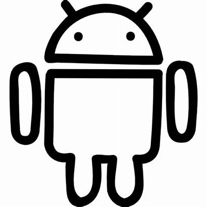 Android Outline Icon Hand Drawn Icons Robot