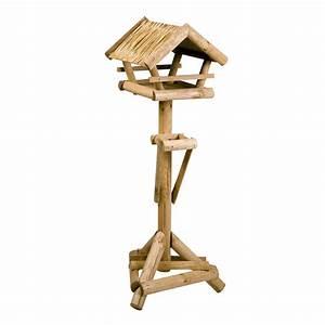 Vogelfutter Für Wildvögel : vogelfutterhaus f r wildv gel larix rieddach auf st nder ~ Michelbontemps.com Haus und Dekorationen