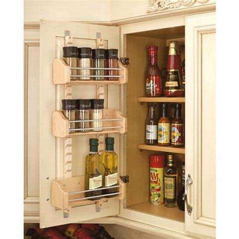 Spice Rack Shelf by Adjustable Door Mount Spice Racks Rev A Shelf 4asr Series