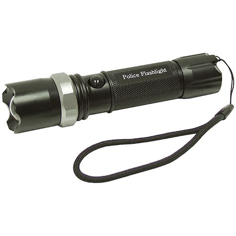 swat led rechargeable senter rechargeable black swat style led flashlight