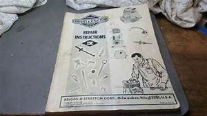 1970 Briggs And Stratton Service And Repair Manual
