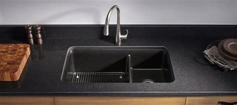 how to clean a black kitchen sink neoroc kitchen sinks 9317