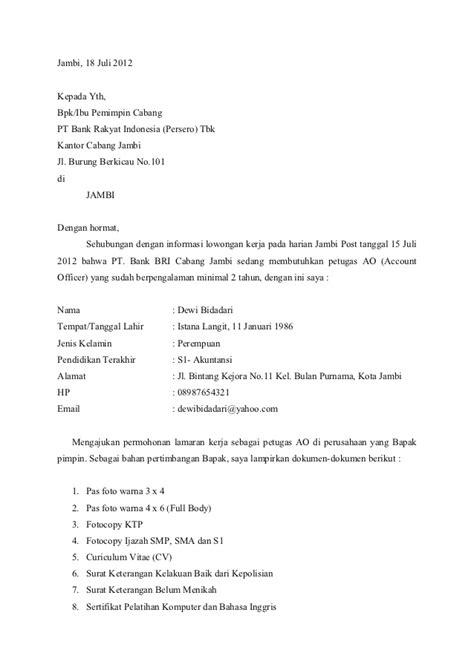 Contoh Surat Pernyataan Untuk Bank Detil Gambar Online