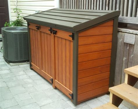 trash can shed free plan trash can shed plans home sweet home