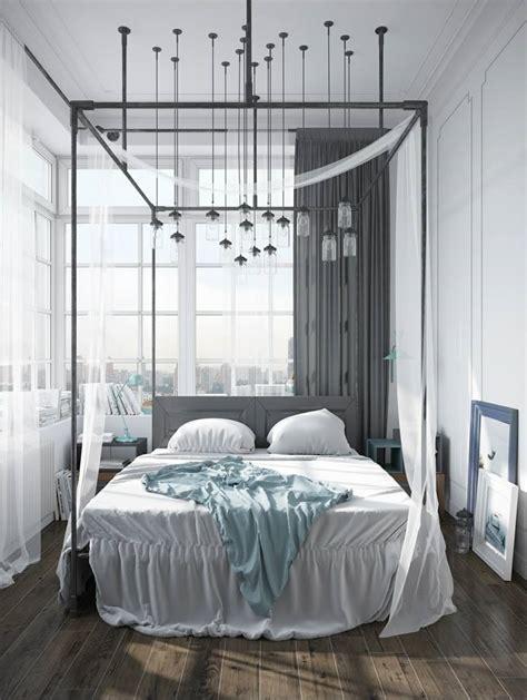 chambre avec lit baldaquin lit baldaquin pour une chambre de déco romantique moderne