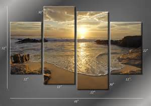 Beach Canvas Wall Art Panels