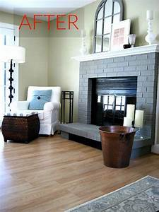 10, Gorgeous, Ways, To, Transform, A, Brick, Fireplace, Without, Replacing, It