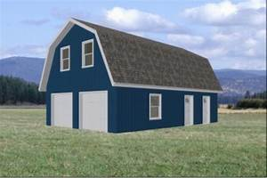 Carport Plans Download, Gambrel Roof Pole Barn Plans