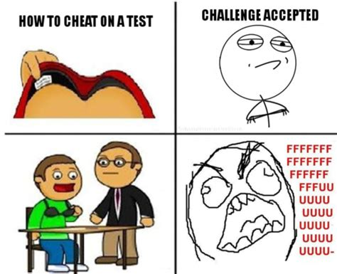 Shlick Meme - rage comics how to cheat on a test