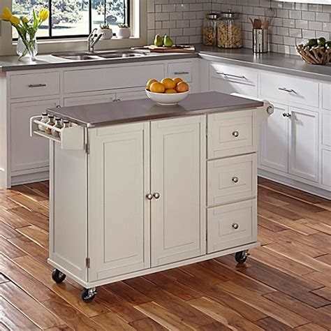 batwing kitchen island home styles liberty kitchen cart with wood top bed bath 1514