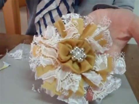 how to make shabby chic flowers out of fabric how to make easy shabby chic flowers youtube