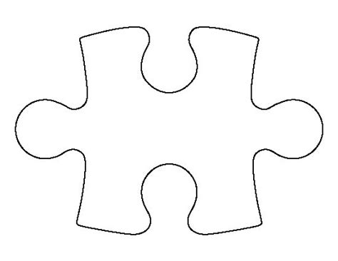 Puzzle Piece Pattern. Use The Printable Outline For Crafts