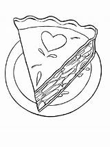 Cake Coloring Slice Pages Decorated Piece Pie Apple Printable Drawing Sheet Getcolorings Tocolor Template Utilising Button Clip sketch template