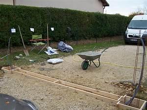 Faire Un Seuil De Portail : coffrage d passe de 5 cm du niveau du sol ~ Premium-room.com Idées de Décoration