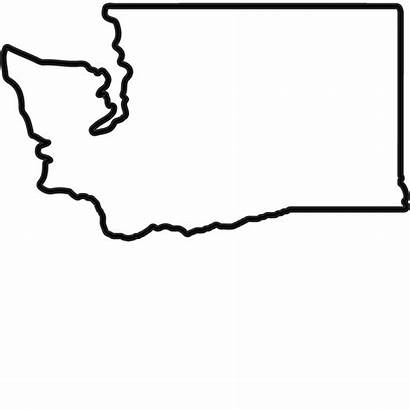Washington Outline State Stamp Rubber Silhouette Clipart