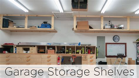 wasted space garage storage shelves jays custom creations