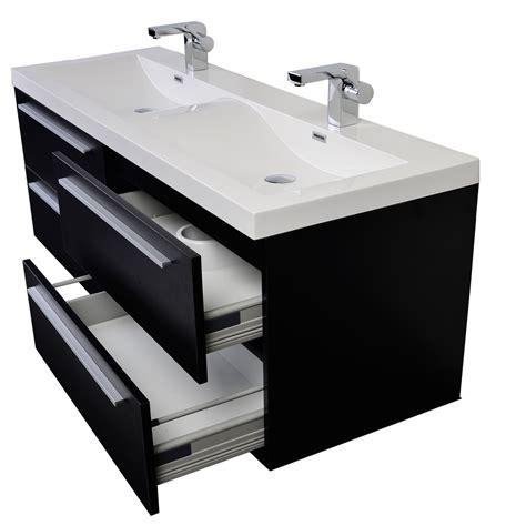 modern double sink vanity 57 inch modern double sink vanity set with wavy sinks