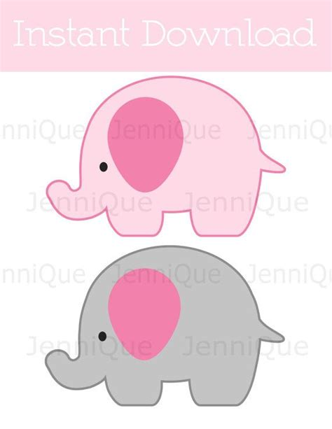 baby shower elephant template printable elephant decorations elephant baby by