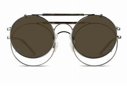 Glasses Metal Sunglasses Eyeglasses Clip Frames Round
