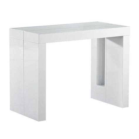 console extensible space rallonges integrees laquee blanche