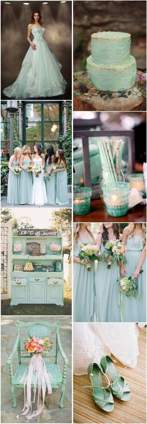mint wedding color ideas   love deer pearl