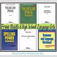 Free Middle And High School Homeschool Language Arts  Language Arts