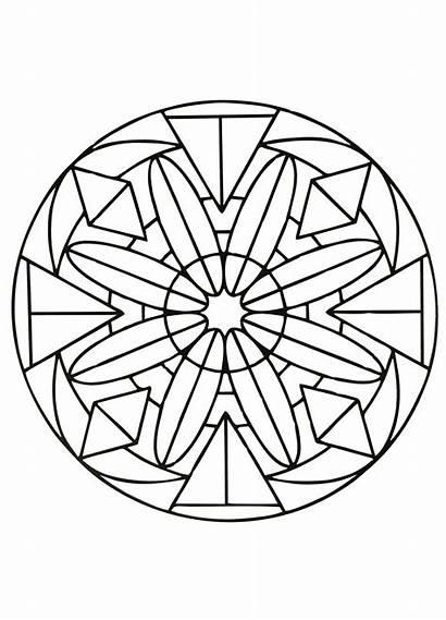 Mandala Coloring Mandalas Simple Easy Pages Patterns