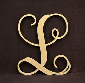 wooden monogram initials single letter vine monogram With single letter monogram