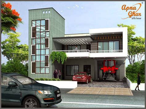 one story four bedroom house plans duplex house design apnaghar house design
