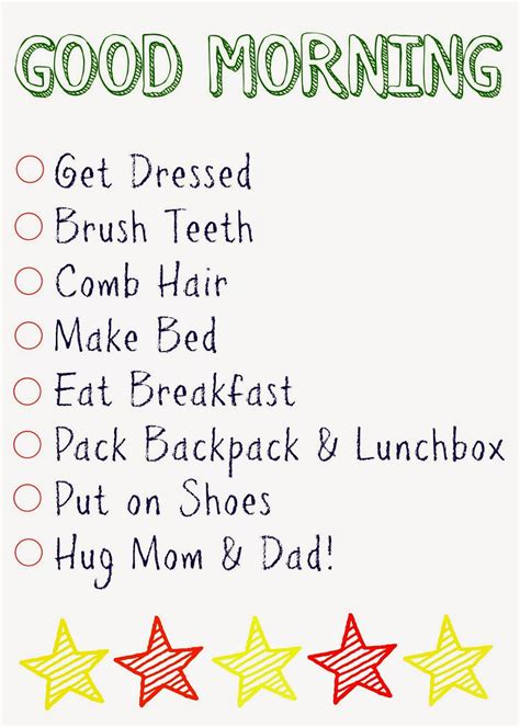 kids daily checklists  chirping moms