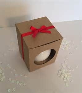 christmas ornament 6cm bauble gift box in kraft card with