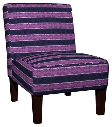 regency stripes slipper chair traditional armchairs