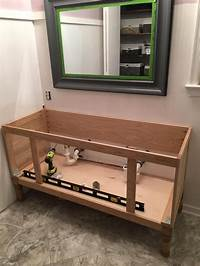 "how to build a vanity How to Build a 60"" DIY Bathroom Vanity From Scratch"