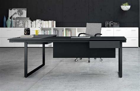bureau 160 cm be 1 bureau individuel 160 cm avec retour en verre noir