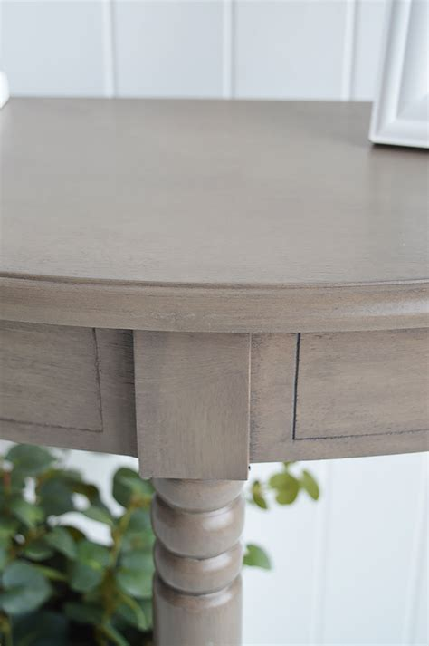 newport french grey console narrow hall table cm deep