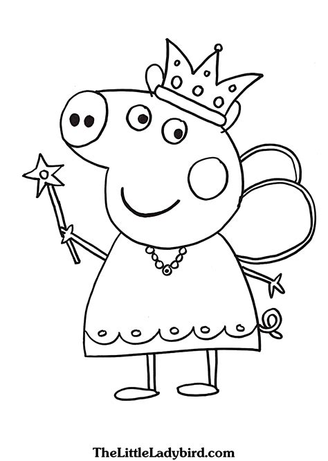 Coloring Pages Online Peppa Pig New Free Printable To