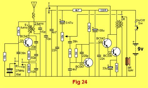 27mhz walkie talkie circuit diagram electronic circuits