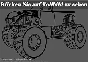 Ausmalbilder Kostenlos Monster Truck 13 Ausmalbilder